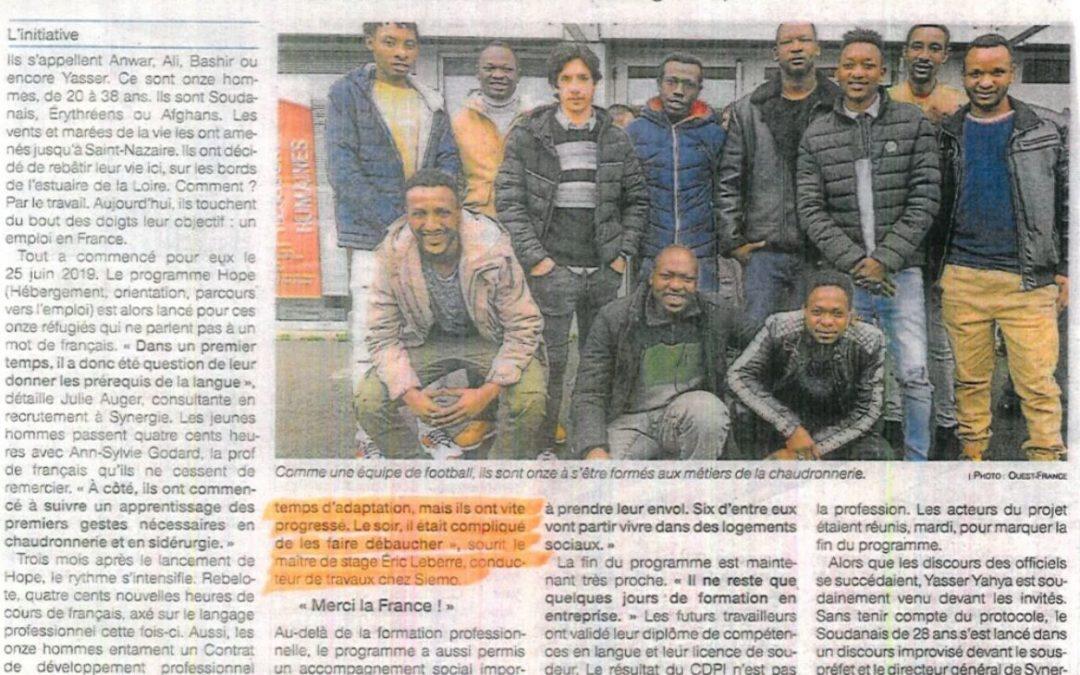 SIEMO accompagne des réfugiés vers le métier de chaudronnier en partenariat avec SYNERGIE